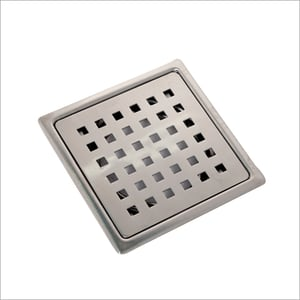 Stainless Steel 304 Mirror Polished Tile Insert Floor Drain Trap