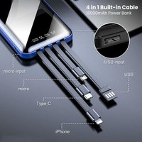4 in 1 Built in Cable 10000mAh Power Bank