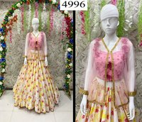 designer lehenga with koti and fancy duppta