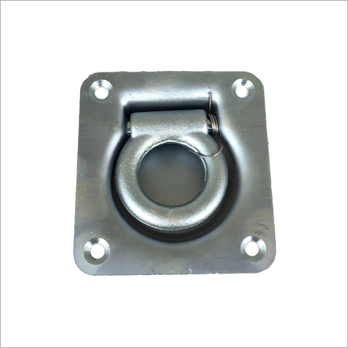 Recessed Floor Hook Pivoting Lashing Ring With Spring