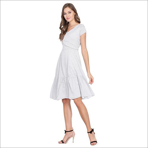 Plain White Ladies Dress