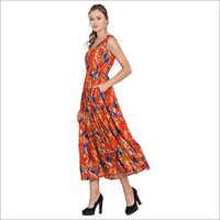 Party Wear Printed Gown