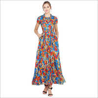 Casual Printed Gown