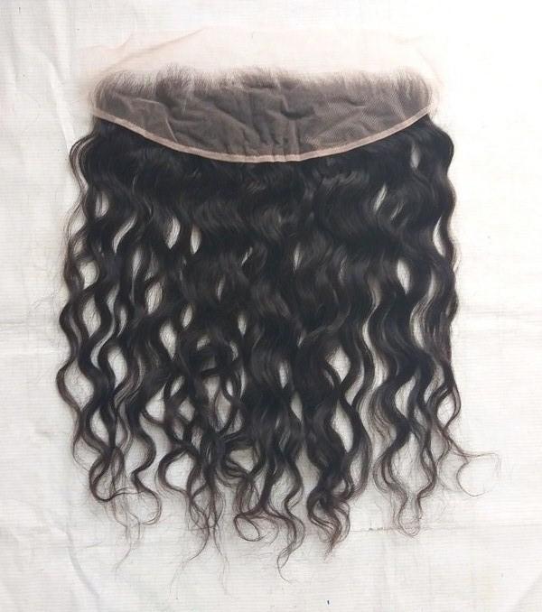 Raw Virgin Wavy Human Lace Frontal Hair