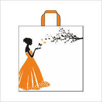 Butterfly - Orange Non Woven Loop Handle Bag