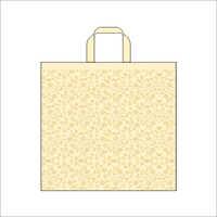 Swirl- Ivory Non Woven Loop Handle Bag