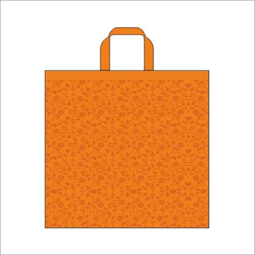Swirl- Orange Non Woven Loop Handle Bag