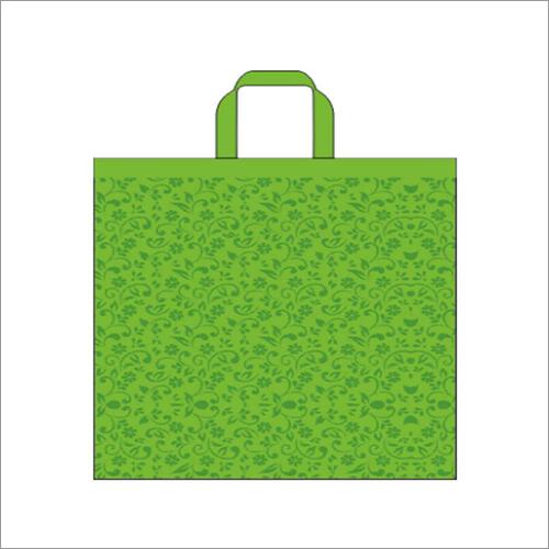 Swirl- Green Non Woven Loop Handle Bag