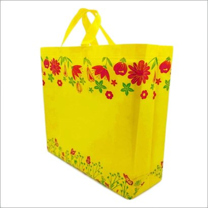 Garden-Yellow Non Woven Box Bag Bag Size: Different Size Available