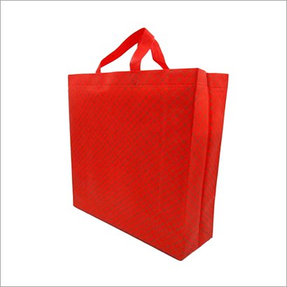 Criss Cross Red Non Woven Box Bag Bag Size: Different Size Available