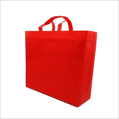 Triangle Red Non Woven Box Bag Bag Size: Different Size Available