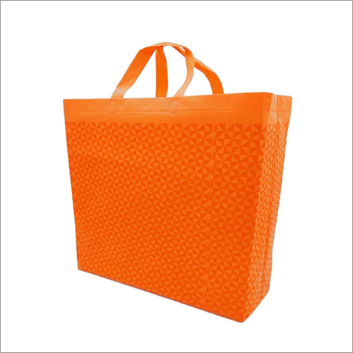 Triangle Orange Non Woven Box Bag