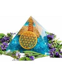 Blue Dyed Apetite Orgone Pyramid