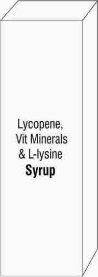 Lycopene Vit Minerals & L-lysine Syrup