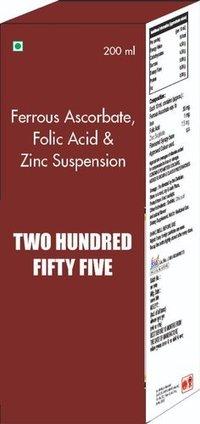 Ferrous Ascorbate Folic Acid & Zinc Suspension