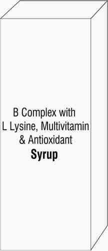 B Complex with L Lysine Multivitamin & Antioxidant SyrupB Complex With L Lysine Multivitamin & Antioxidant Syrup