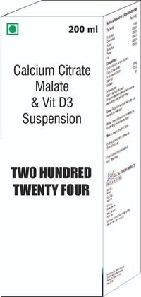 Calcium Citrate Malate & Vit D3 Suspension