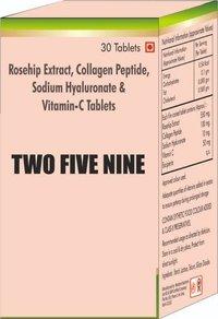 Rosehip Extract Collagen Peptide Sodium Hyaluronate & Vit C Tablet