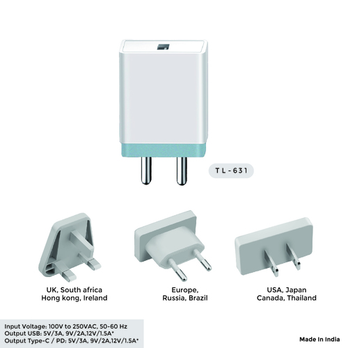 2.4A Single USB Mobile Charger