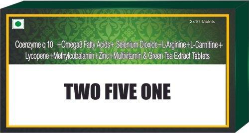 Coenzyme Q10 Omega 3 Fatty Acid Selenium Dioxide L Arginine L Carnitine Lycopene Methylcobalamin Tab