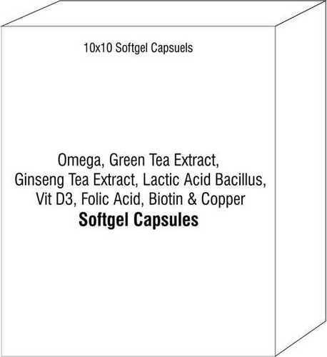 Omega Green Tea Extract Ginseng Tea Extract Lactic Acid Bacillus Vit D3 Folic Acid Biotin Copper