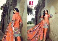 AL Zohaib Roohi Pure Lawn Cotton Pakistani Print Salwar Suits Catalog
