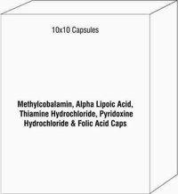 Methylcobalamin Alpha Lipoic Acid Thiamine Hydrochloride Pyridoxine Hydrochloride & Folic Acid Caps