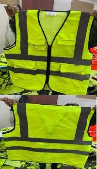 Reflective Vest multi pocket 220gsm Orange/Green