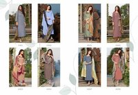 Cross Vol 4 Designer Silk Kurtis With Dupatta