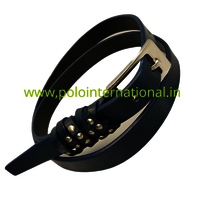 Fancy Leather trims Belt for women in black classic color