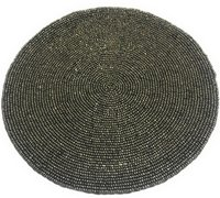 Glass Beads Antique Round Placement Coaster