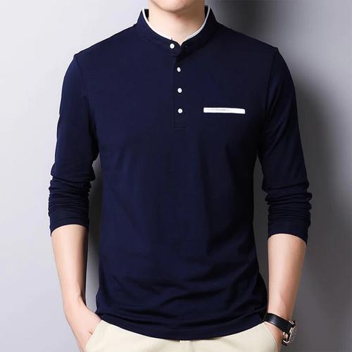 Men's Mandarin Neck T-Shirt