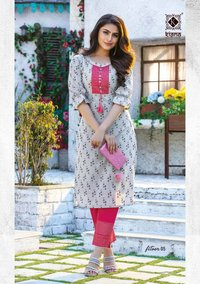 FITOOR Designer Daily Wear Rayon Kurtis With Pant