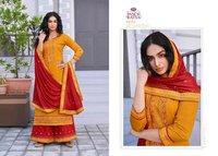 Sun City Jam Silk With Work Salwar Kameez