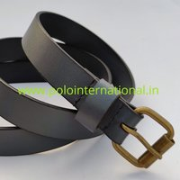 Full grain Grey leather belt for women