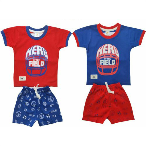 Boys Half Sleeves Cotton Baba Suits