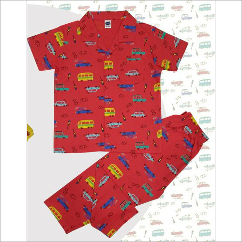 Boy's Half Sleeves Cotton Night Suits