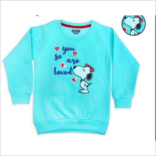 Girl's Round Neck Fleece Sweatshirts