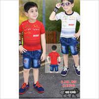 Denim Short Pant Baba Suit