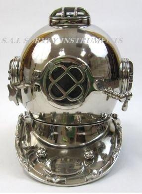 Diving Helmet Mark V In Nickel Finish