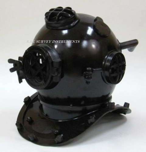 Black Antique Divers Helmet