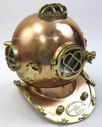 Copper Antique Divers Helmet Mark V