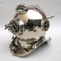 Mark  V Chrome Plated Special Edition Brass Divers Helmet