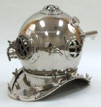 Mark Iv Decorative Diving Helmet Chrome Diving Helmet