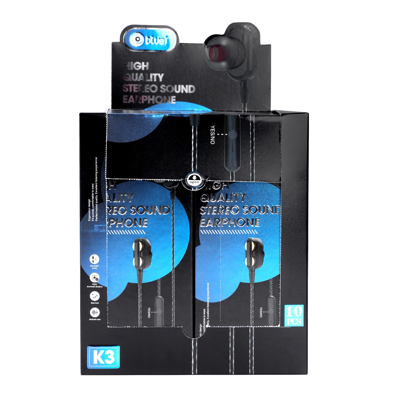 Bluei K3 3.5mm Jack Superior Sound Stereo Earphone