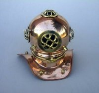 Copper & Brass Diving Helmet Table Decor Diver Helmet Vintage Shiny Polished Diving Helmet Collectible Decor Gift