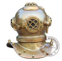 Antique Us Navy Diving Helmet Mark V Small Diving Helmet Antique Divers Helmet