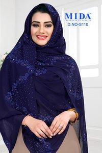 Chiffon Rhinestone Hijab Scarf