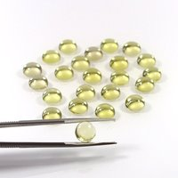 5mm Lemon Quartz Round Cabochon Loose Gemstones