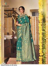 Anshika Party Wear Soft Art Silk Sarees